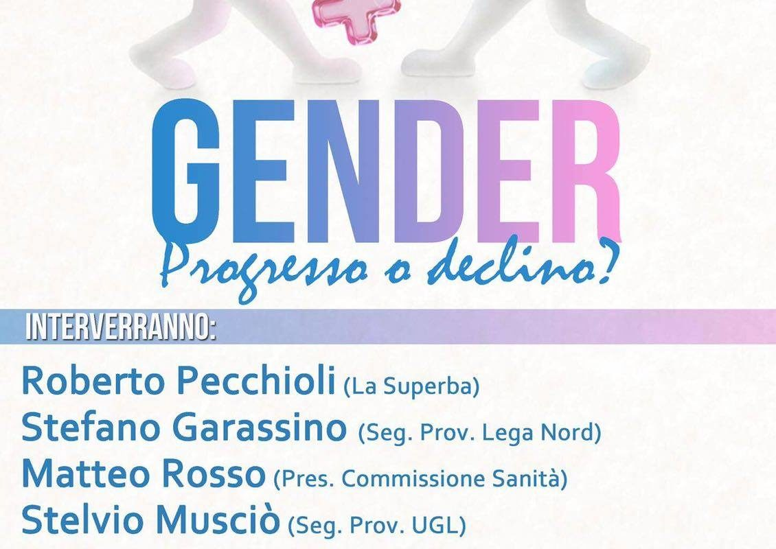 """Gender: progresso o declino?"" a Genova"